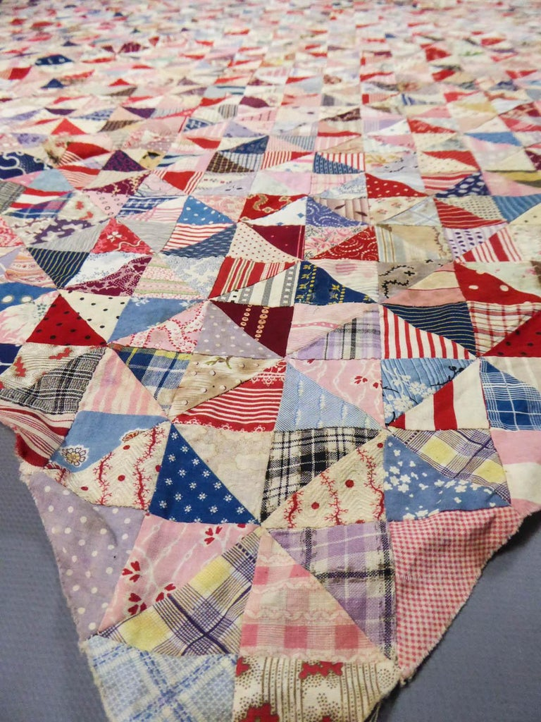 A French Provence Printed Cotton Patchwork 19th century For Sale 2