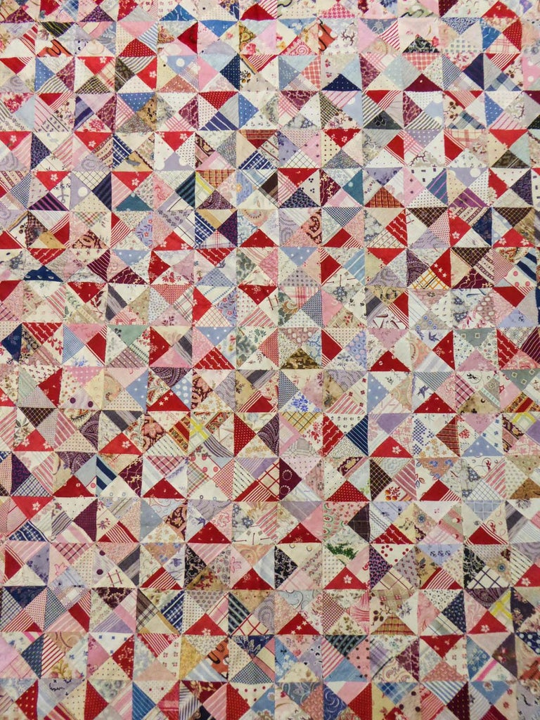 A French Provence Printed Cotton Patchwork 19th century For Sale 3