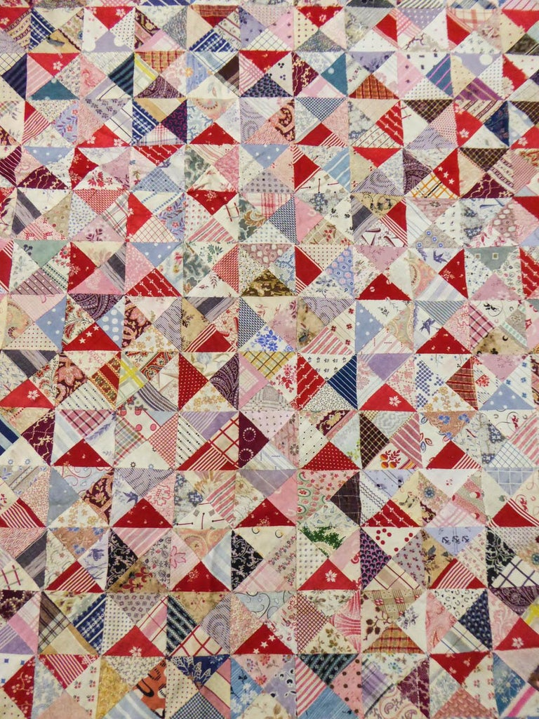 A French Provence Printed Cotton Patchwork 19th century For Sale 4