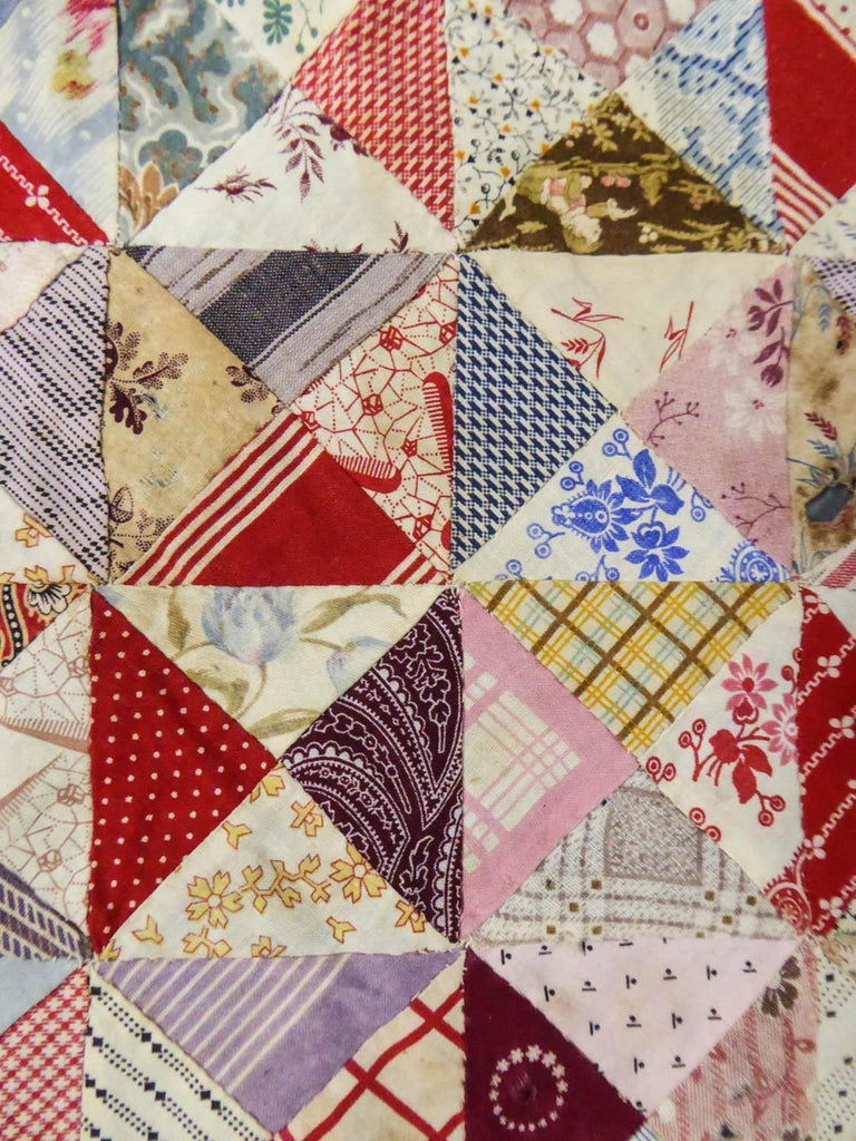 A French Provence Printed Cotton Patchwork 19th century For Sale 5
