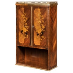 French Rosewood Wall Cabinet by G Durand