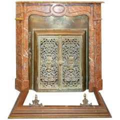 French Rouge Marble Mantel