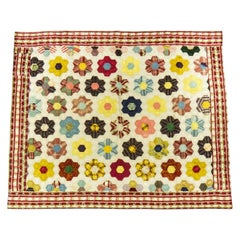 A French Silk 18th century Quilt Patchwork