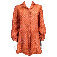 A French Silk Evening Jacket In Orange And Silver Lamé Circa 1940/1950