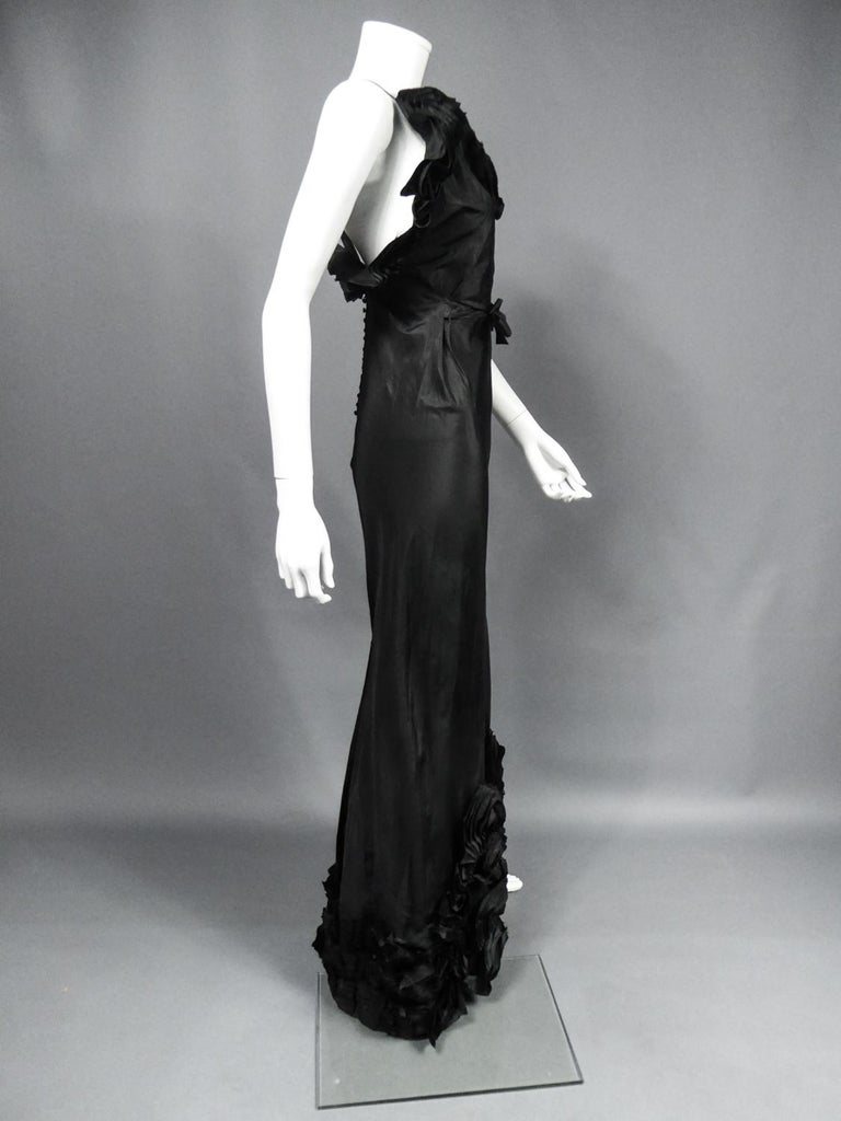 A French Taffeta Couture Evening Dress Possibly Worth Circa 1935 For Sale 6