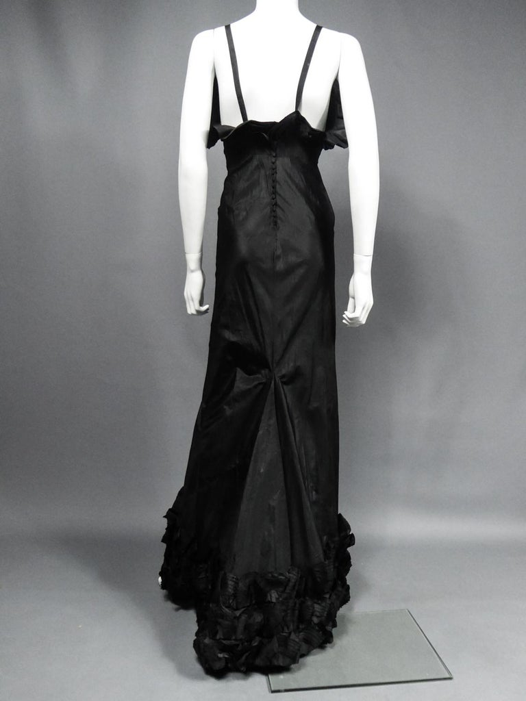 A French Taffeta Couture Evening Dress Possibly Worth Circa 1935 For Sale 7