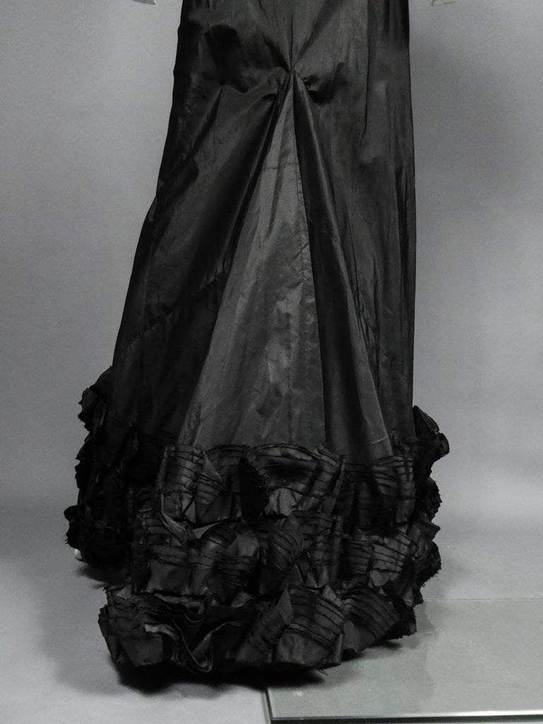 A French Taffeta Couture Evening Dress Possibly Worth Circa 1935 For Sale 9
