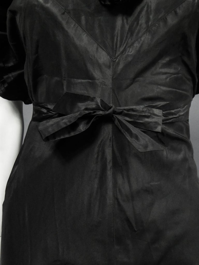 Women's A French Taffeta Couture Evening Dress Possibly Worth Circa 1935 For Sale