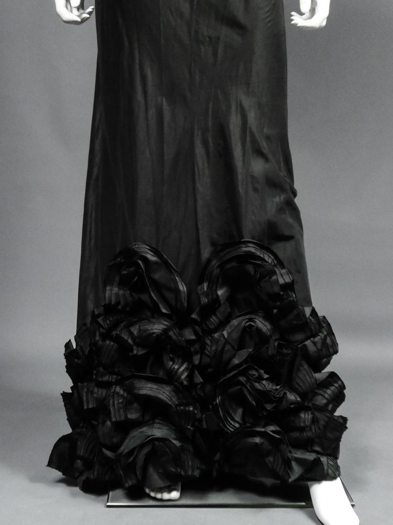 A French Taffeta Couture Evening Dress Possibly Worth Circa 1935 For Sale 2