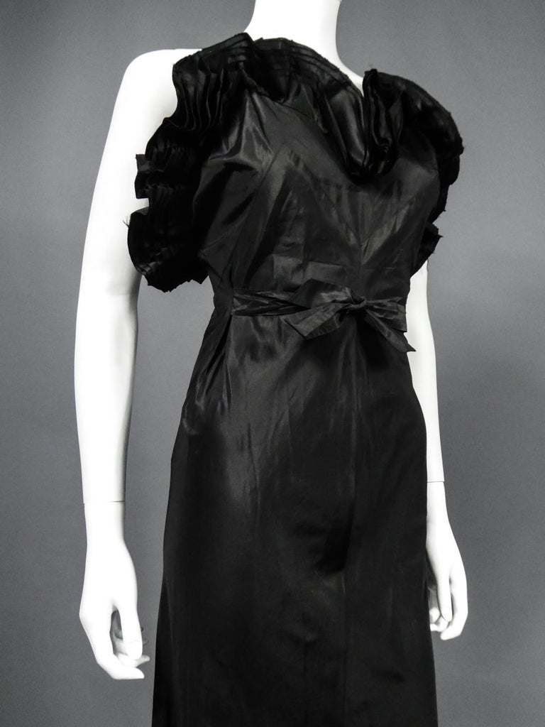 A French Taffeta Couture Evening Dress Possibly Worth Circa 1935 For Sale 4