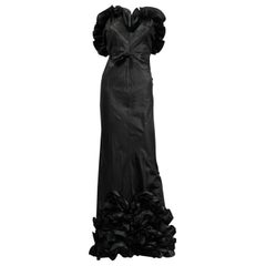 A French Taffeta Couture Evening Dress Possibly Worth Circa 1935