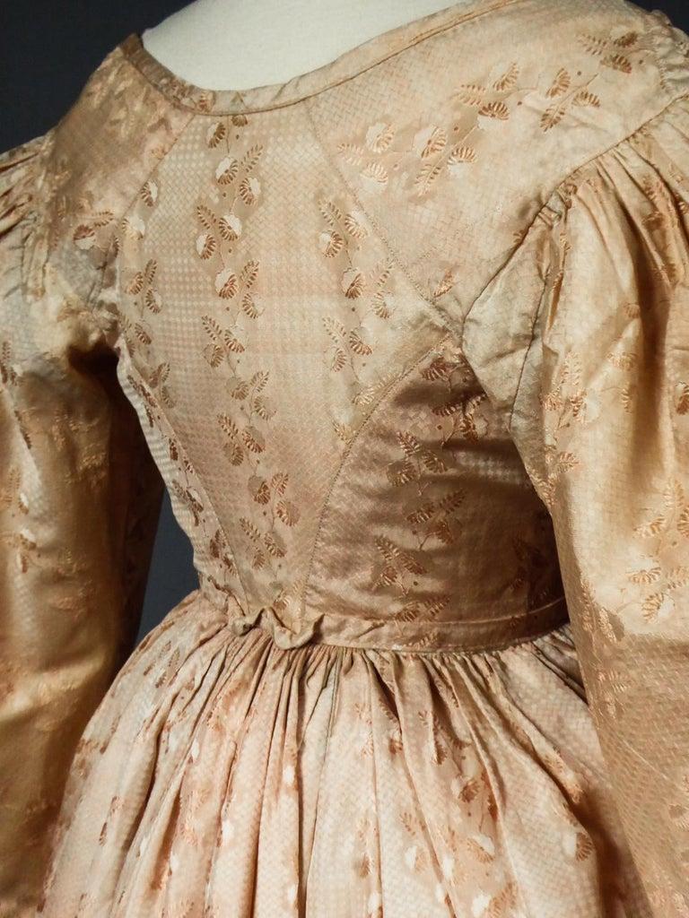 A French Taffeta Silk Ball Gown - France Charles X Period Circa 1825 For Sale 5
