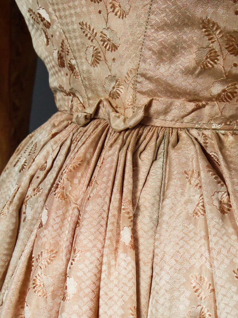 A French Taffeta Silk Ball Gown - France Charles X Period Circa 1825 For Sale 6