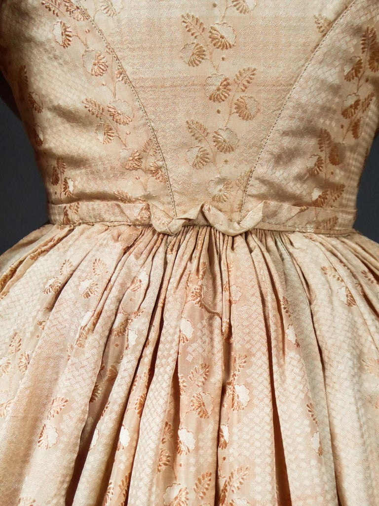 A French Taffeta Silk Ball Gown - France Charles X Period Circa 1825 For Sale 9