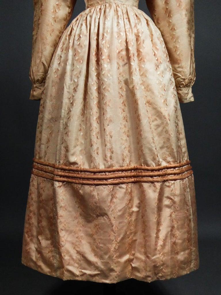 A French Taffeta Silk Ball Gown - France Charles X Period Circa 1825 For Sale 15