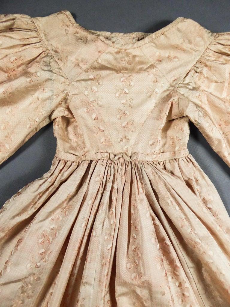 A French Taffeta Silk Ball Gown - France Charles X Period Circa 1825 For Sale 1