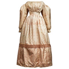A French Taffeta Silk Ball Gown - France Charles X Period Circa 1825