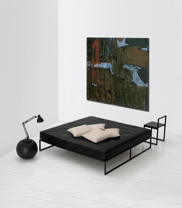 Modern A. G. Fronzoni Large Fronzoni '64 Bed in Metal and Wood for Cappellini For Sale