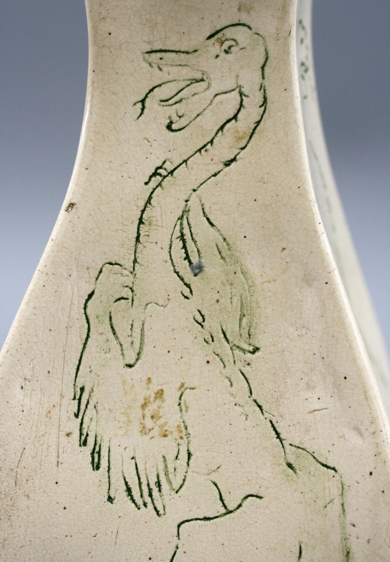 A G Sangwell Martin Brothers Pottery Grotesque Dragons Tribute Art Pottery Vase For Sale 1