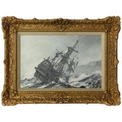 'A Galleon in Distress' by Montague Dawson