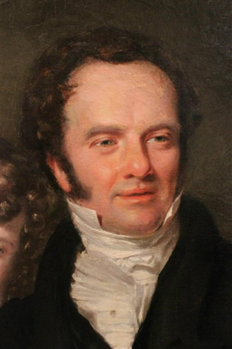 Gentleman with his Three Children by 18th Century English Artist John Opie For Sale 3