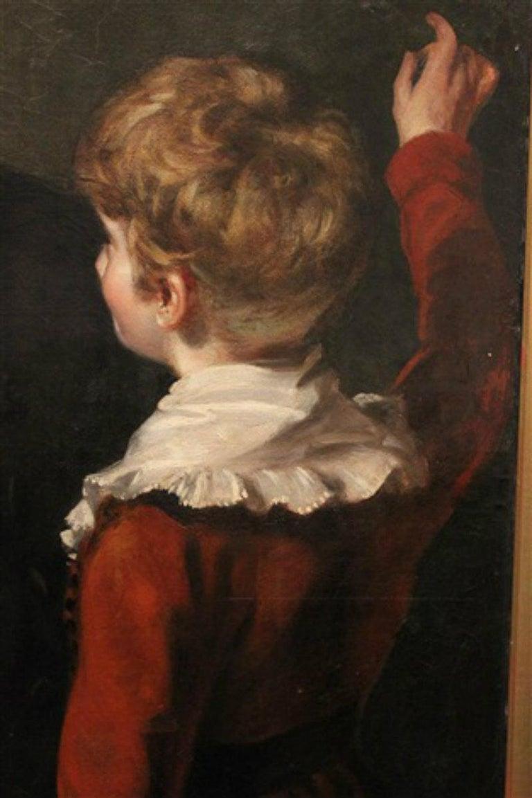 Gentleman with his Three Children by 18th Century English Artist John Opie For Sale 4
