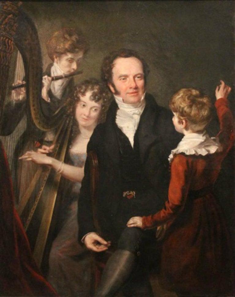 Gentleman with his Three Children by 18th Century English Artist John Opie For Sale 6