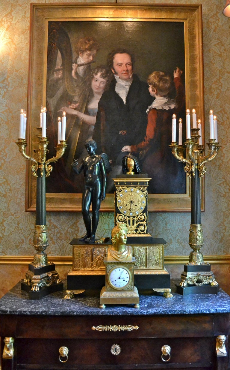 George III Gentleman with his Three Children by 18th Century English Artist John Opie For Sale