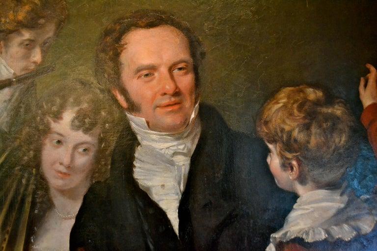 British Gentleman with his Three Children by 18th Century English Artist John Opie For Sale