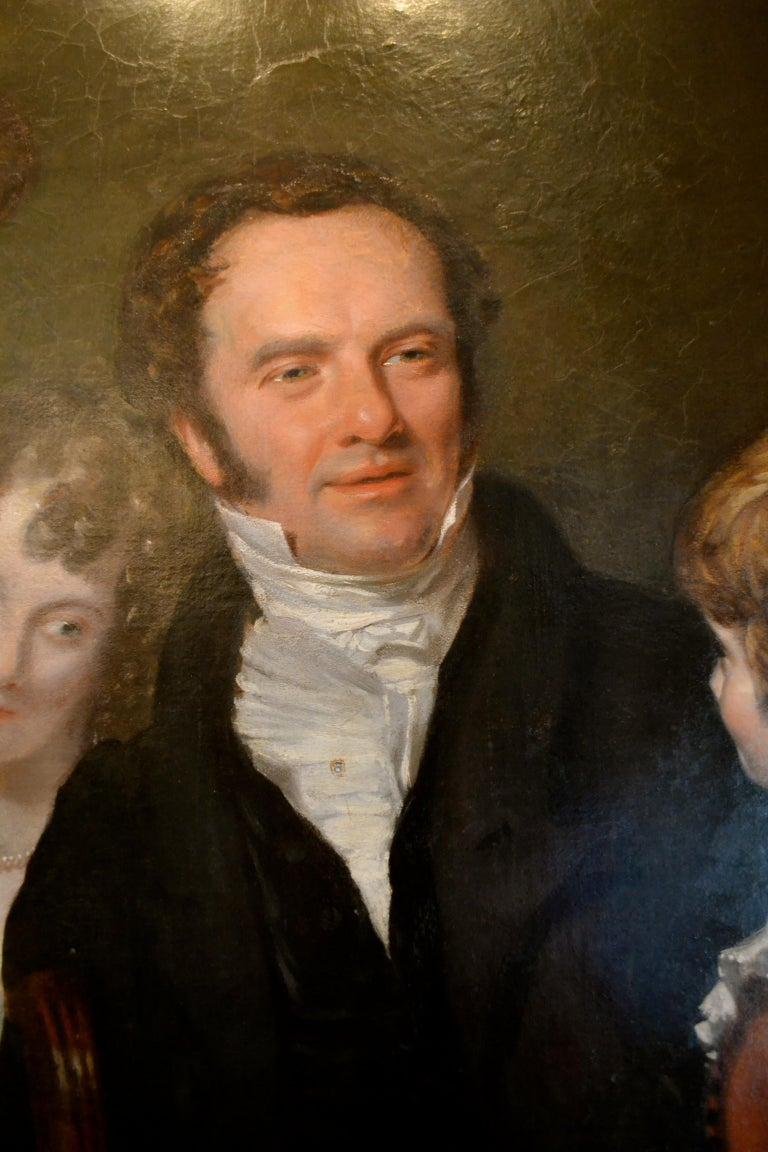 Gentleman with his Three Children by 18th Century English Artist John Opie In Good Condition For Sale In Vancouver, British Columbia