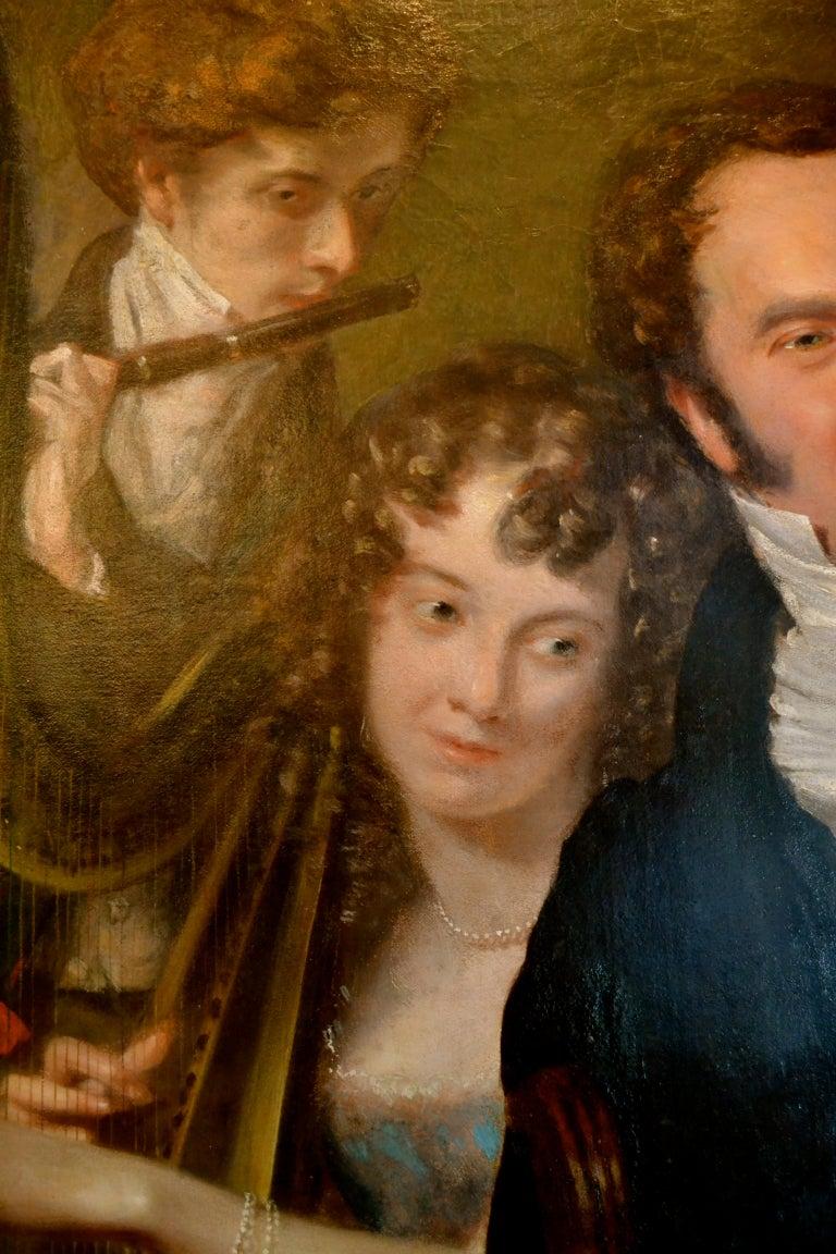 Gentleman with his Three Children by 18th Century English Artist John Opie For Sale 1