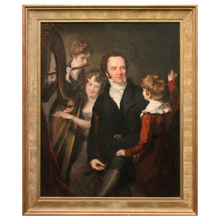 Gentleman with his Three Children by 18th Century English Artist John Opie For Sale
