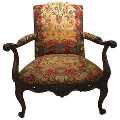 George I / George II Tapestry Gainsborough Style Chair, 1725-1735