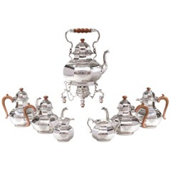 George I Silver Seven Piece Tea and Coffee Set