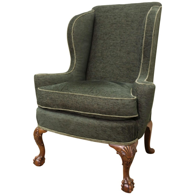George I Style Winged Armchair For Sale At 1stdibs