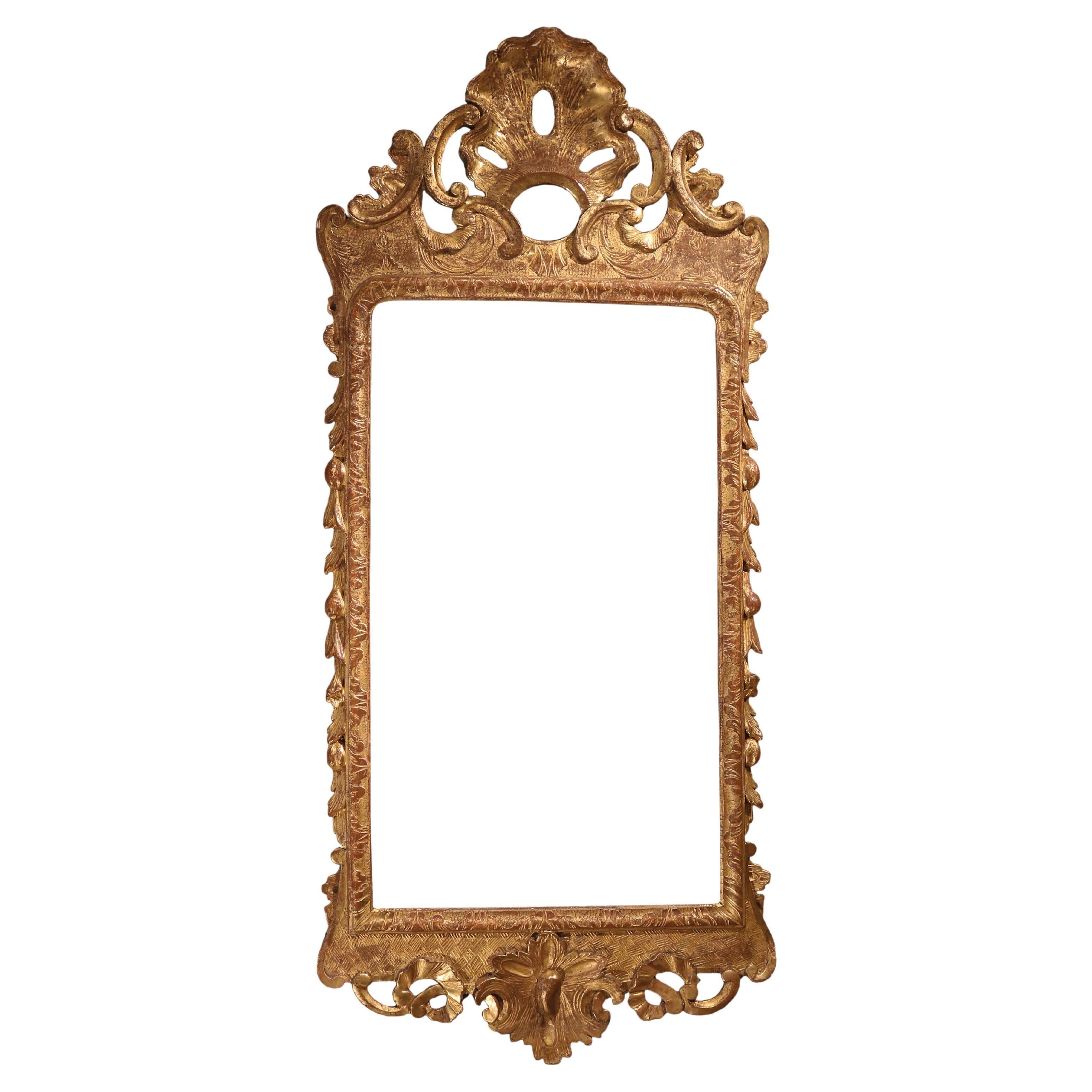 George II Period Carved Gesso Mirror