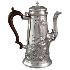 George II Silver Coffee Pot London, 1731