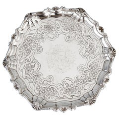 George II Silver Salver London 1740 by Robert Abercromby