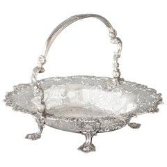 George II Sterling Silver Basket, London, 1745