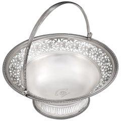 George III Bread Basket Made in London in 1803 by William Allen III