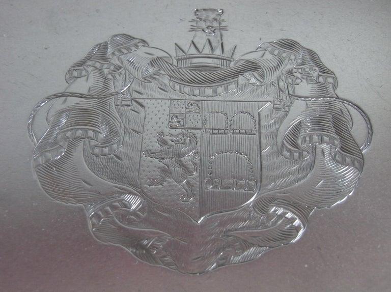 Sterling Silver George III Bread/Fruit Basket Made in London in 1803 by Richard Cooke For Sale