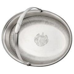 George III Bread/Fruit Basket Made in London in 1803 by Richard Cooke
