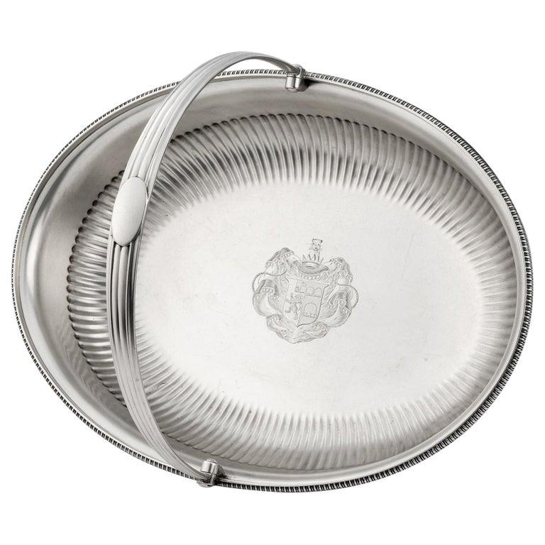 George III Bread/Fruit Basket Made in London in 1803 by Richard Cooke For Sale