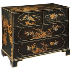 George III Chines Export Lacquer Chest of Drawers