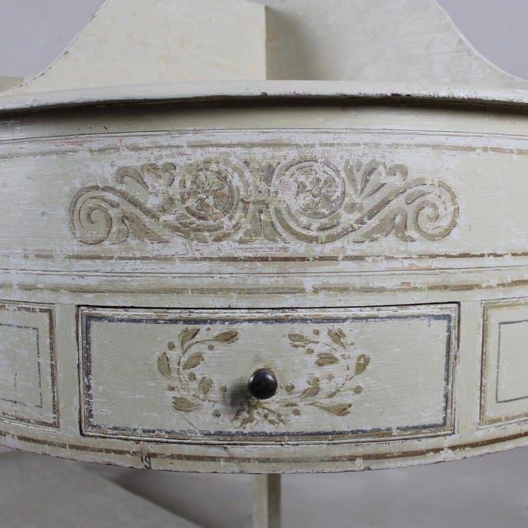 Neoclassical George III Country House, Original Painted Pine, Dressing Table or Washstand For Sale