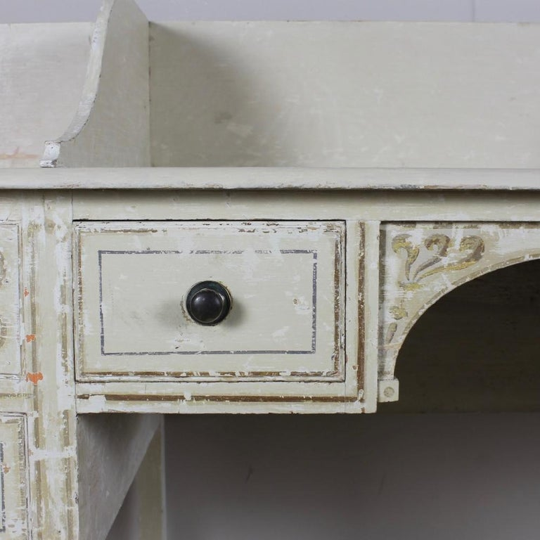 British George III Country House, Original Painted Pine, Dressing Table or Washstand For Sale