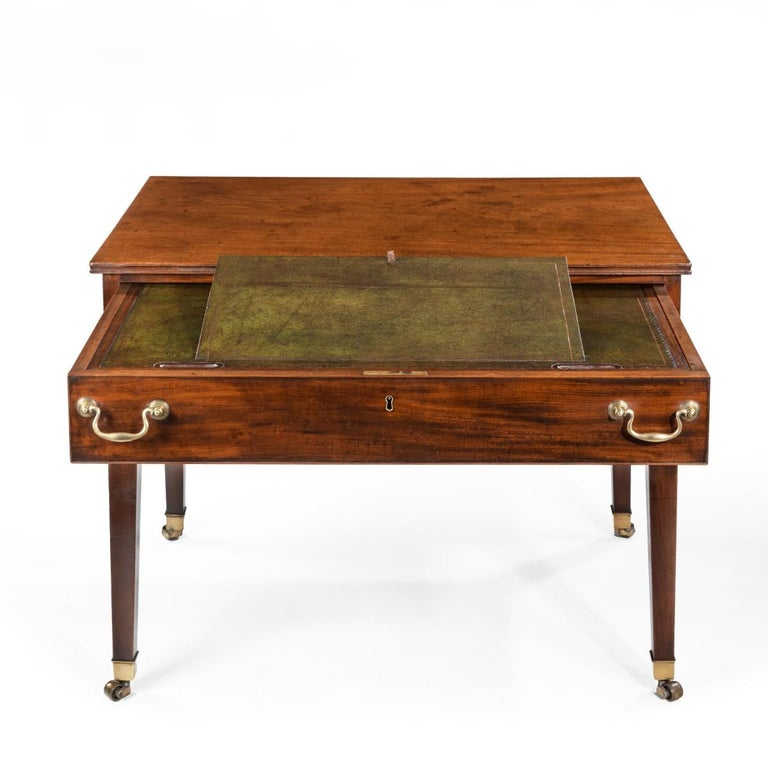 Early 19th Century George III Free-Standing Mahogany Architect's Desk For Sale
