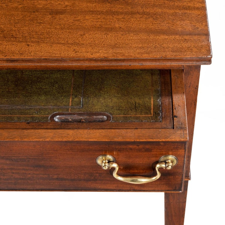 George III Free-Standing Mahogany Architect's Desk For Sale 1