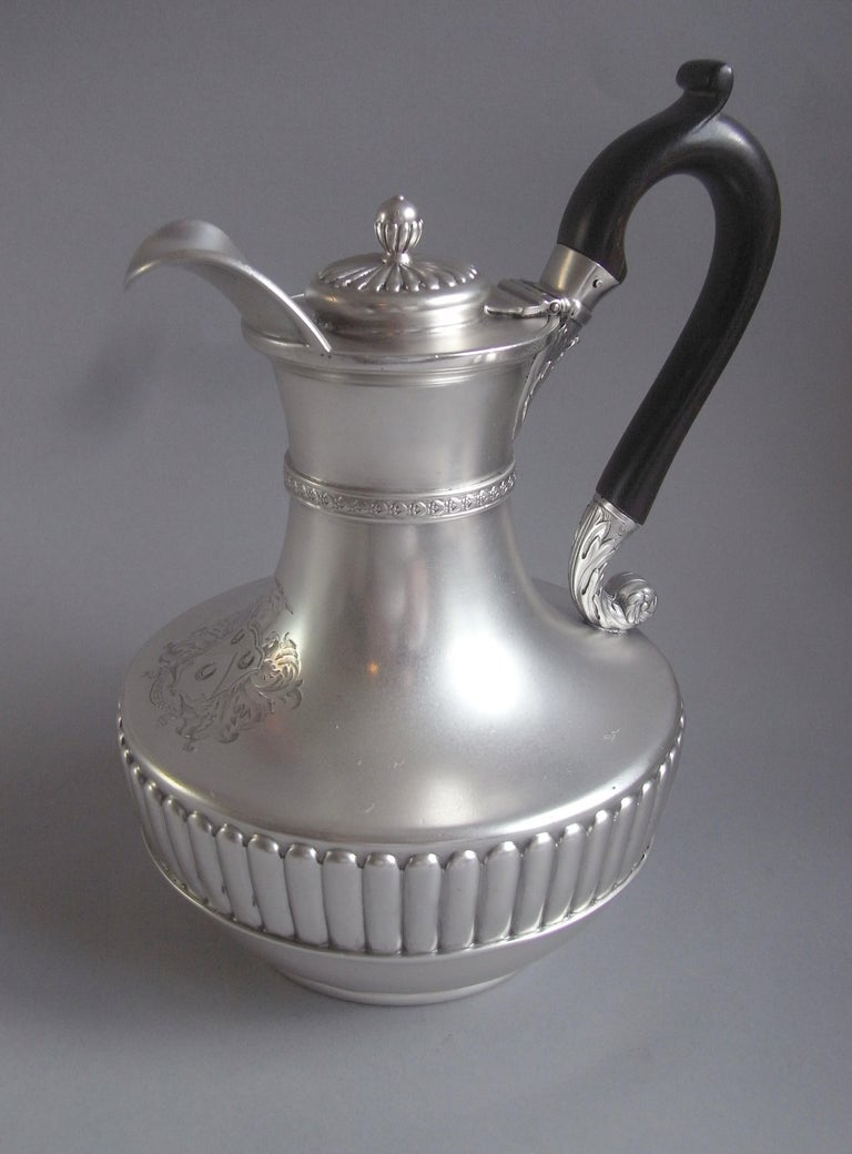European George III Jug on Lampstand Made in London in 1807 by Paul Storr For Sale