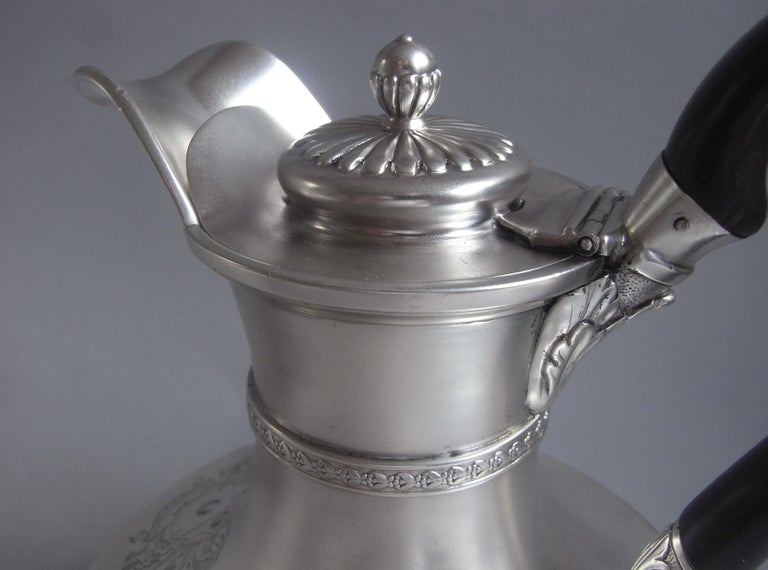 George III Jug on Lampstand Made in London in 1807 by Paul Storr In Good Condition For Sale In London, GB